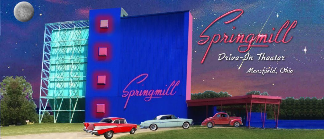 Springmill Drive In Theater Mansfield Ohio 44906 Two Screen Outdoor Drive In Theater